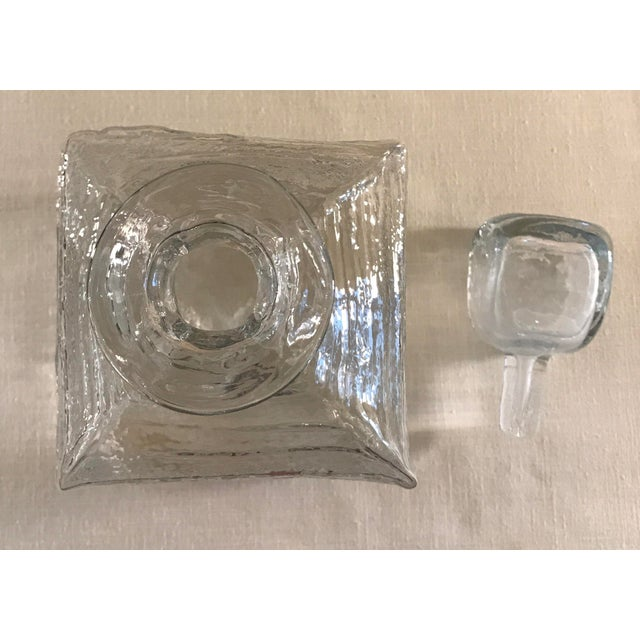 Mid-Century Modern Blown Decanter with Stopper - Image 7 of 9