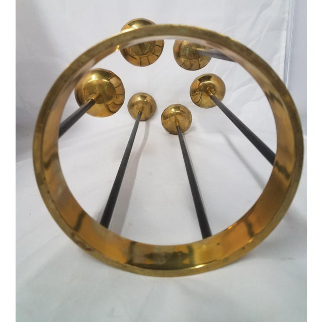 1960s Mid-Century Brass Candle Stick Holder For Sale - Image 5 of 11
