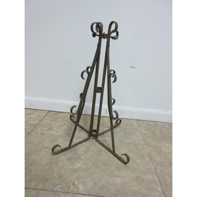 Antique Wrought Iron Scroll Flag Pole Music Stand Ceremonial For Sale - Image 11 of 11