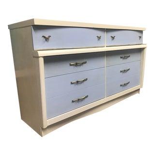 Mid Century Modern Light Blue Dresser For Sale