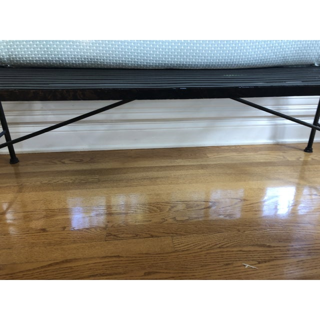Metal 1990s Maitland-Smith Style Heavy Iron Bench For Sale - Image 7 of 9