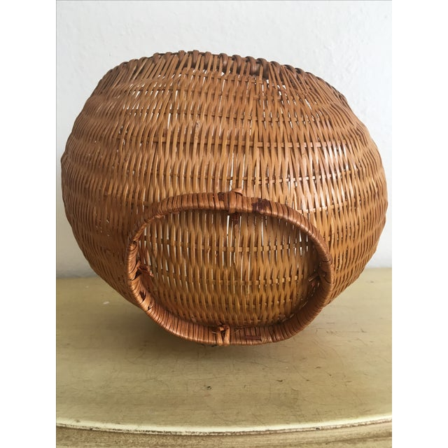 Fall Harvest Round Rattan Basket - Image 4 of 6