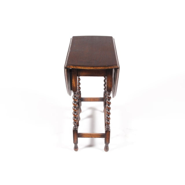 1920s William and Mary Gateleg Table For Sale - Image 5 of 5