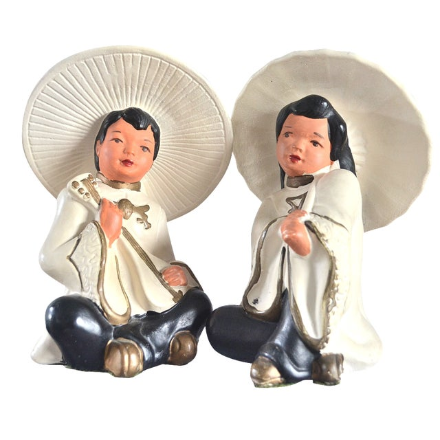 Asian Figurines—Pair - Image 1 of 5