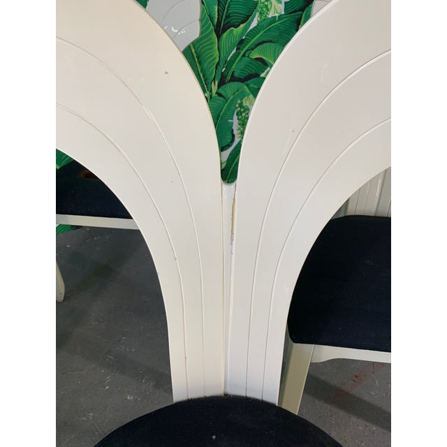 Sculptural Fish Tail Back Dining Chairs in the Manner of Ello - Set of Six For Sale - Image 6 of 11