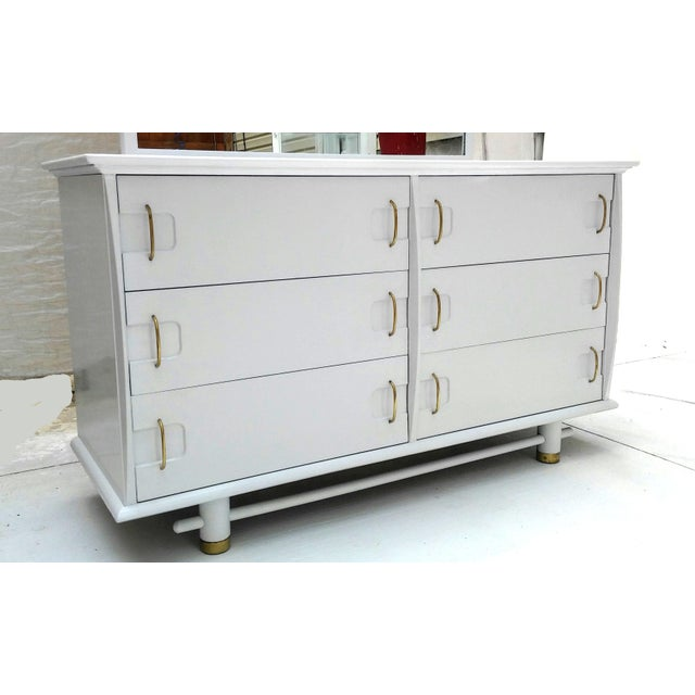 Kent Coffey Mid Century Dresser and Mirror - Image 5 of 10