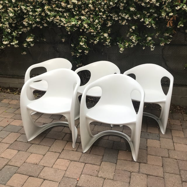 Mid Century Vitra Style Monolith Chairs- 5 Pieces For Sale - Image 11 of 11
