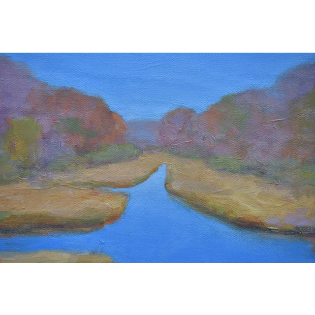 "Stephen Remick Stephen Remick ""Autumn at the Marsh"" Contemporary Landscape Painting For Sale - Image 4 of 13"