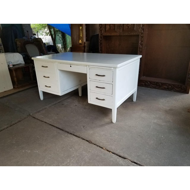 Mid 20th Century Mid Century Modern Style Executive Desk For Sale - Image 5 of 13