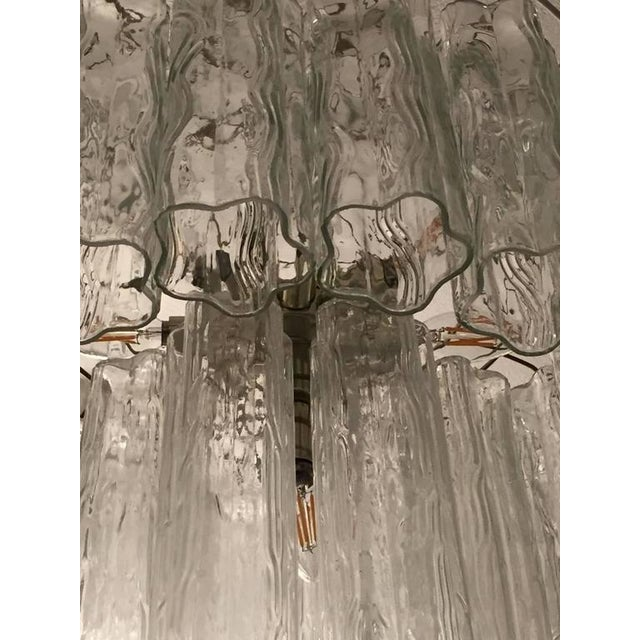 Mid-Century Italian Tronchi Glass Chandelier For Sale In New York - Image 6 of 7
