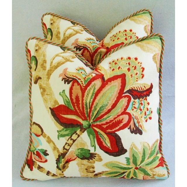 Custom Schumacher Kelmscott Manor Pillows - A Pair - Image 2 of 11