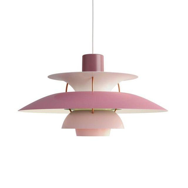 Poul Henningsen Ph 5 Pendant for Louis Poulsen in Rose For Sale - Image 13 of 13