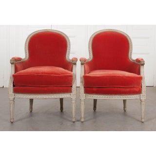 French 19th Century Louis XVI Style Bergères -A Pair Preview