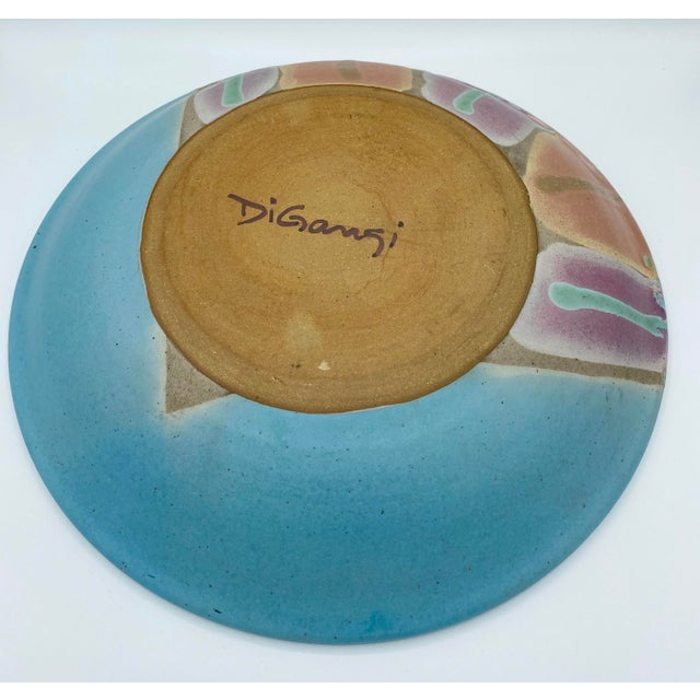 Contemporary Vintage Signed Studio Pottery Platter For Sale - Image 3 of 6