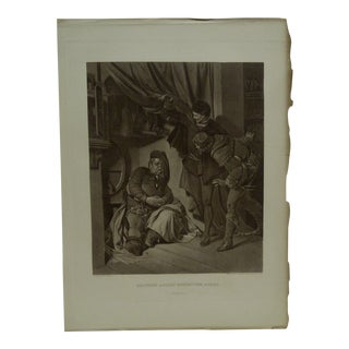 Late 19th Century Antique The Works of Shakespeare Imperial Edition Engraving Print For Sale
