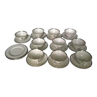 Lenox Vintage Montclair Coffee Cups & Saucers - 23 Pieces For Sale
