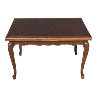 19th Century French Draw Leaf Table With Parquet Top For Sale