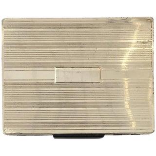 Streamlined Sterling Silver Cigarette Case With Dispenser For Sale