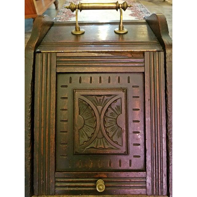 Brass Early 19th Century British Regency Provincial Oak Coal Scuttle/Bin For Sale - Image 7 of 11