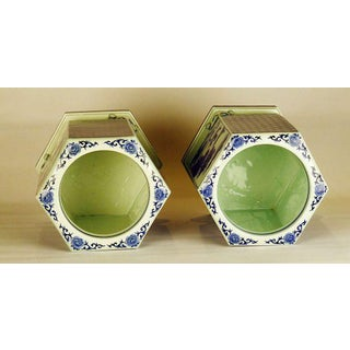 Early 20th Century Japanese Gold and Blue Porcelain Hibachi - a Pair Preview