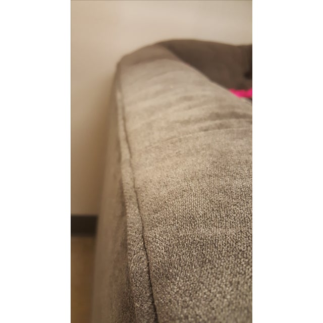 Charcoal Tufted Vintage Sofa - Image 10 of 10