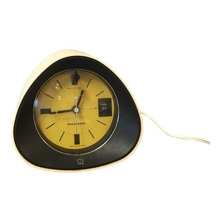 1970s Vintage Panasonic Yellow Alarm Clock Radio For Sale