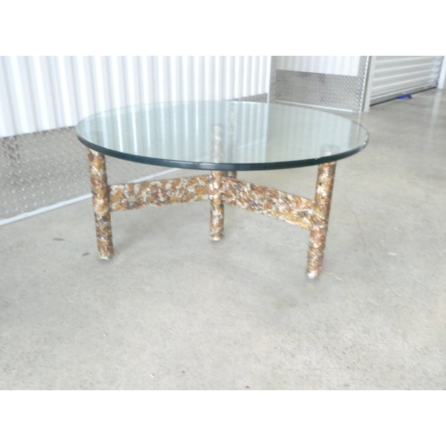 S Brutalist Multi Color Welded Metal Three Leg Coffee Table - Welded coffee table