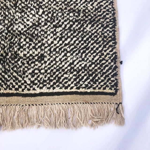 "Vintage Tribal Berber Wool Checkerboard Rug-5'2"" X 8'8"" For Sale - Image 4 of 10"