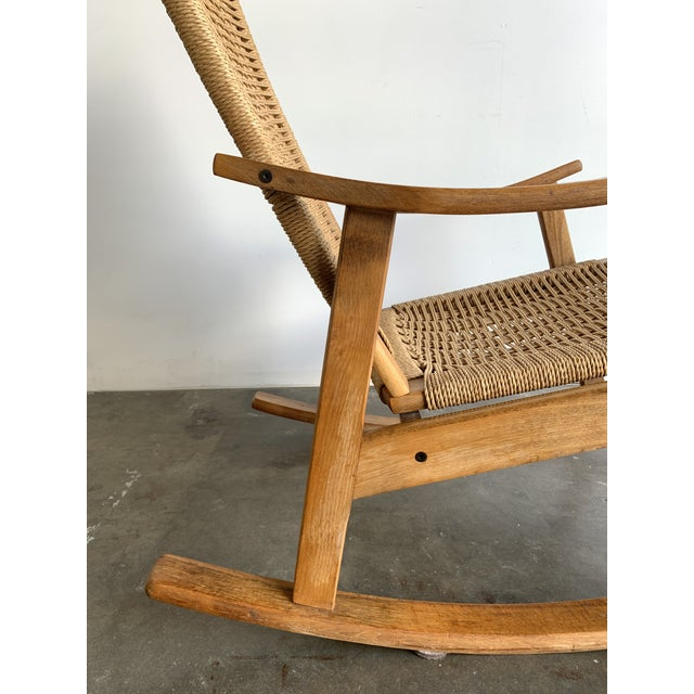 Mid Century Rope Rocking Chair For Sale - Image 11 of 13