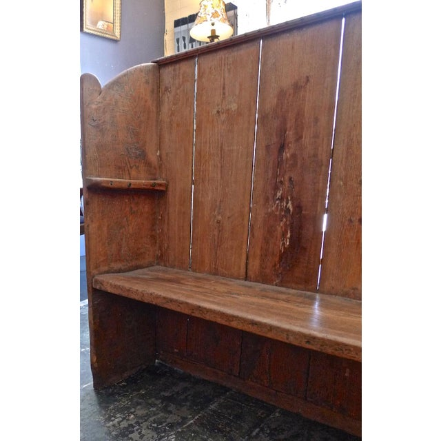 Farmhouse 19th Century English Stained Pine Church Pew For Sale - Image 3 of 12