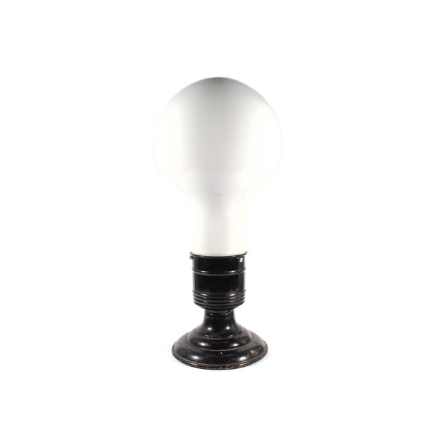 Vintage Industrial Style Lightbulb Table Lamp For Sale - Image 9 of 9