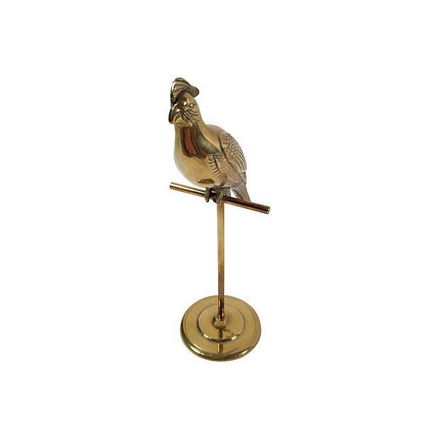 Brass Cockatoo on Stand - Image 3 of 4