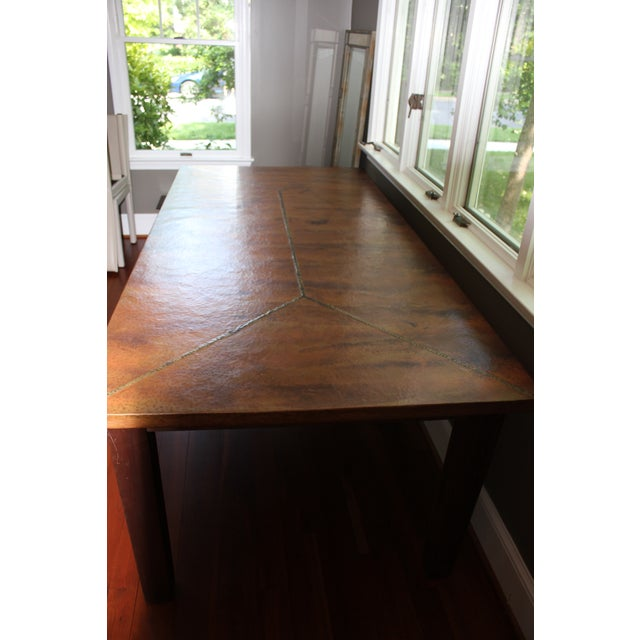 Copper Dining Table From Mohr McPherson - Image 3 of 4