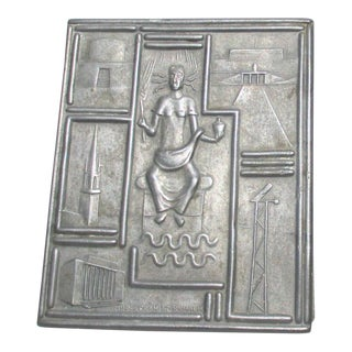 1930s Swedish Pewter Table Box For Sale