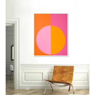 """Large """"Pink and Orange Forever"""" Print by Stephanie Henderson, 41"""" X 51"""" Preview"""