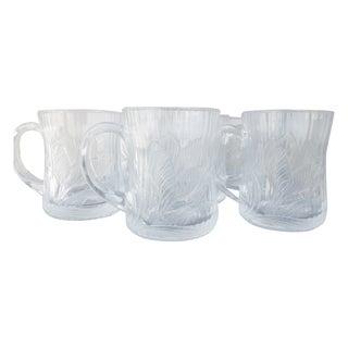 Glass Lotus Blossom Coffee Mugs - Set of 6 For Sale