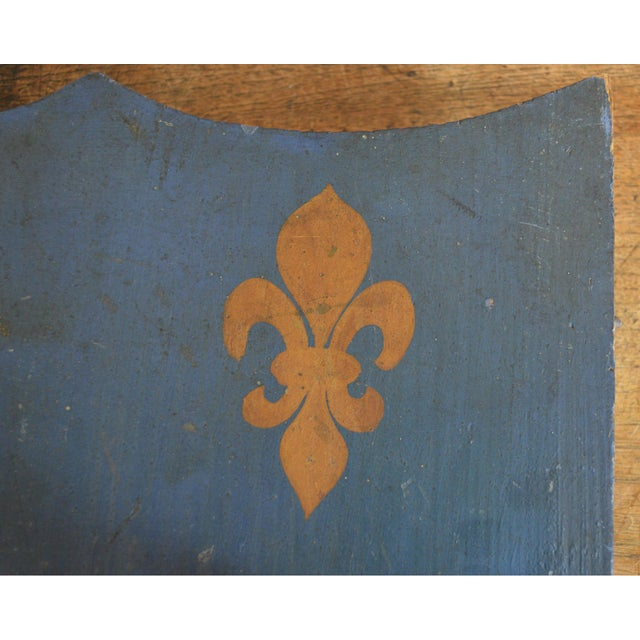 Vintage French Painted Family Shield For Sale - Image 9 of 13