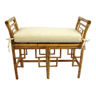 Chinoiserie Bamboo Bench For Sale