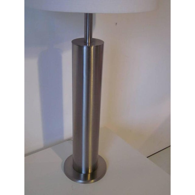 Laurel Lamp Company Laurel Brushed Stainless Table Lamp For Sale - Image 4 of 5