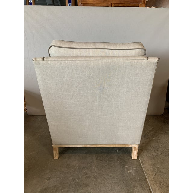 Transitional Modern Taupe Leighton Chair For Sale - Image 3 of 5