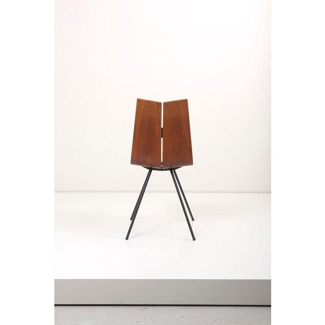 "Horgen-Glarus Set of Eight ""Ga"" Chairs by Hans Bellmann for Horgen-Glarus, Switzerland, 1950s For Sale - Image 4 of 9"