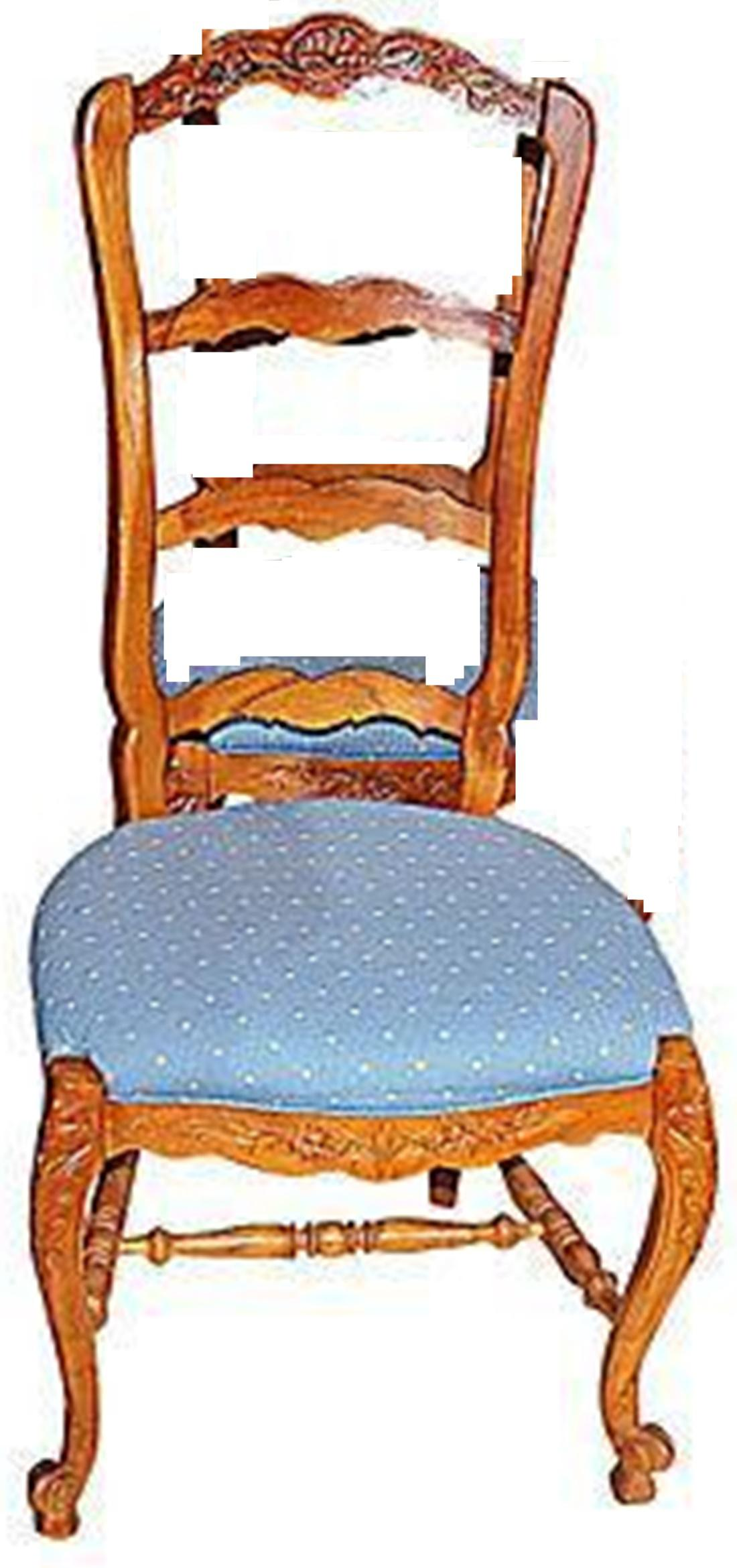 Country French Ladderback Chair For Sale In West Palm   Image 6 Of 7