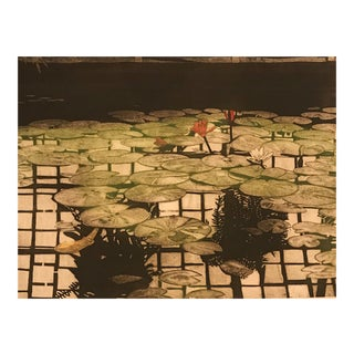 Lily Pond Aquatint by J. Whitman Parker, 1979 For Sale