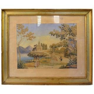 Framed Regency Needlework Momento Mori For Sale
