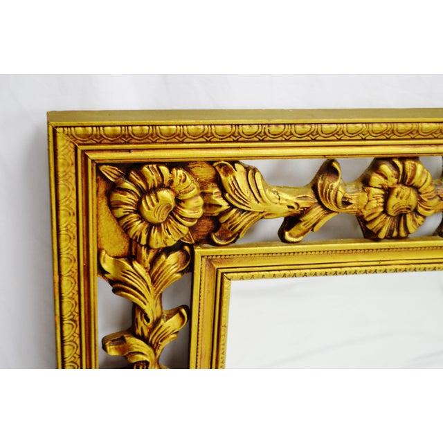Gold Gilt Pierced Wall Mirror - Image 5 of 9