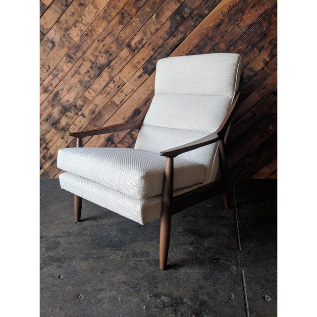Custom Danish Mid Century Style Lounge Chair For Sale - Image 9 of 9