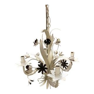 Italian Floral Tole Chandelier