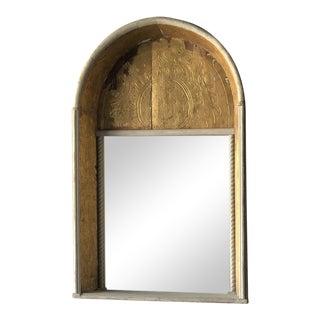 19th C. Spanish Gilded Niche Mirror For Sale