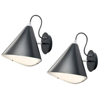 Daniel Becker Emily Wall Light in Matte Black - a Pair For Sale