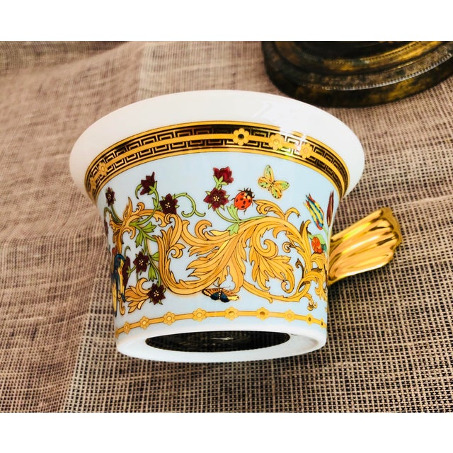 Italian Rosenthal Versace Butterfly Garden Teacups - Set of 4 For Sale - Image 3 of 6